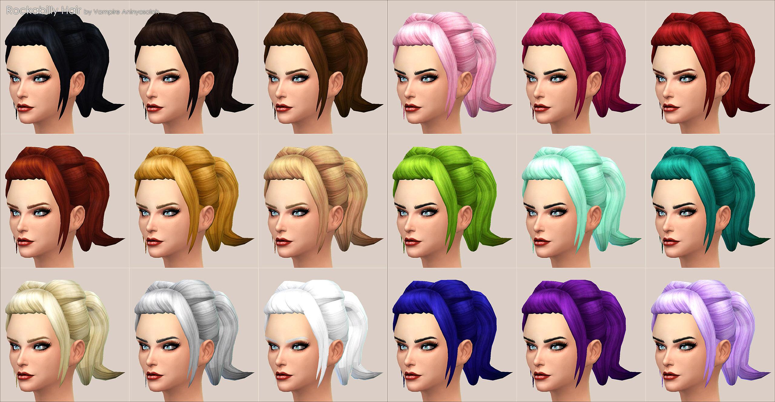 mod the sims - rockabilly hair