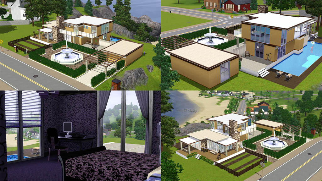 Mod the sims mezzo forte house on cliff for Mezzo classic house yerevan