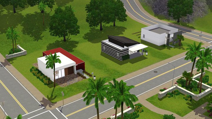 Mod the sims casa moderna 3 modern starter homes 2 for Casa moderna los sims 3