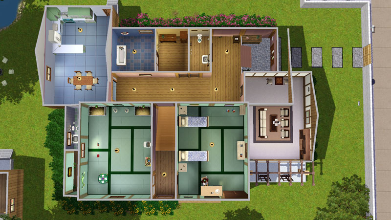 mod the sims nobita 39 s home from the anime doraemon