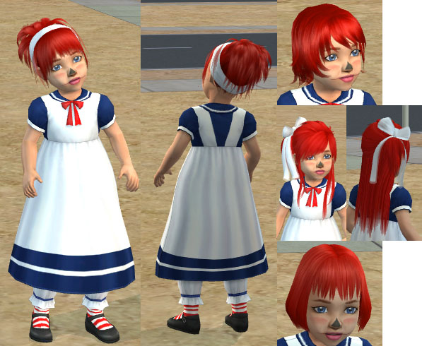 Raggedy Ann Makeup - Raggedy Ann Dress