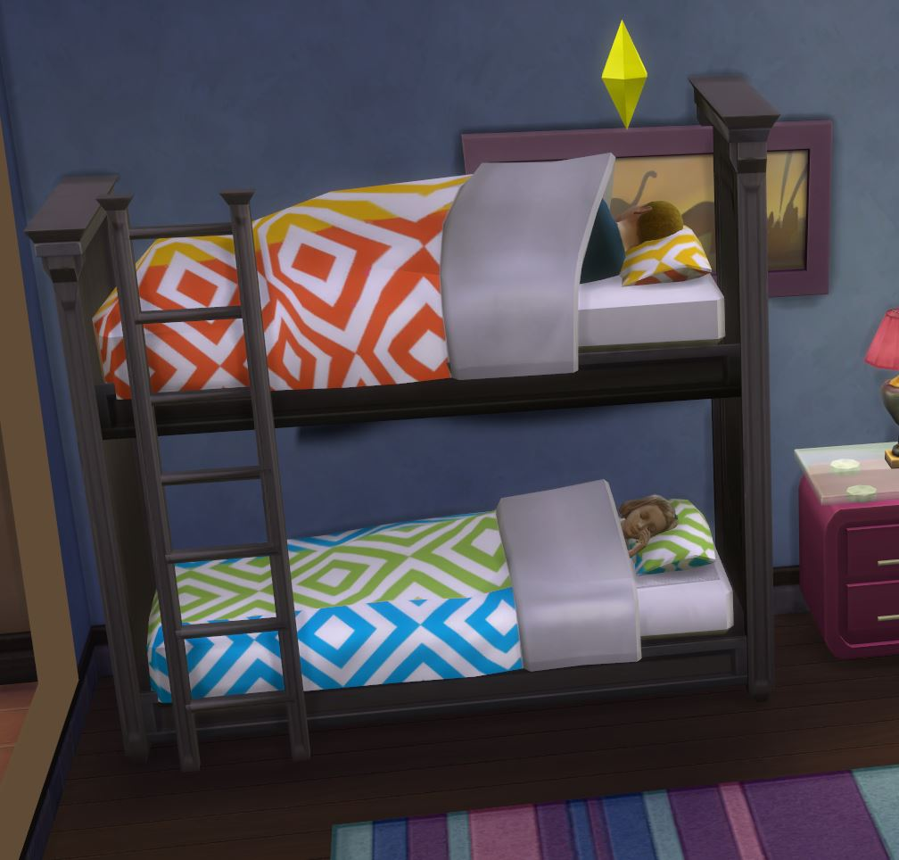 Mod the sims functional bunk bed fixed april 2015 for Mods sims 4 muebles