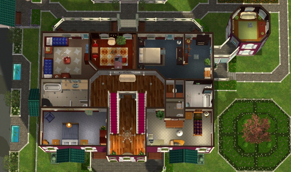Sims 2 home floor plans for Sims 2 home designs