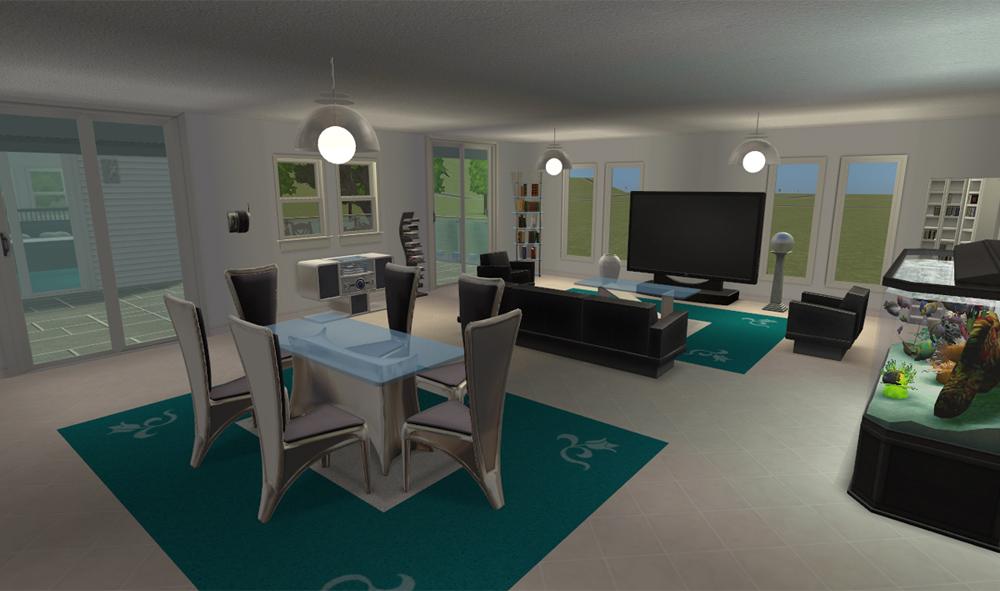 Casa de lujo todo para tus sims 2 for Casa moderna sims 2