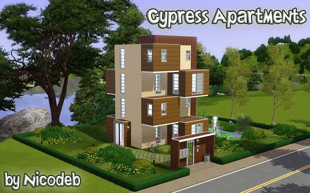 Mod the sims cypress apartments for Apartment design sims 3