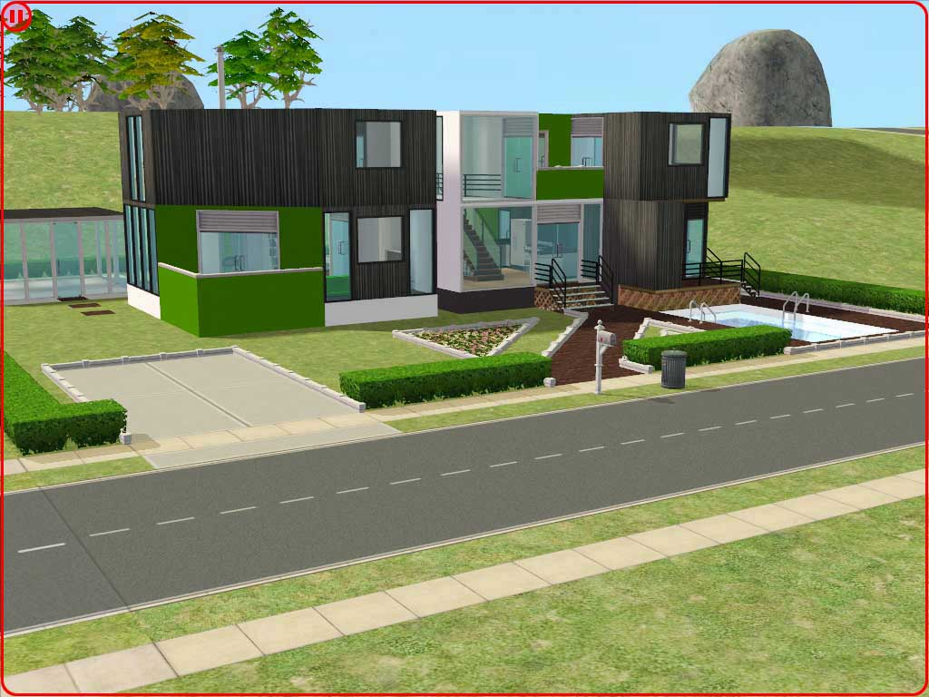 9 best photo of modern house sims 2 ideas architecture for Modern house ep 9