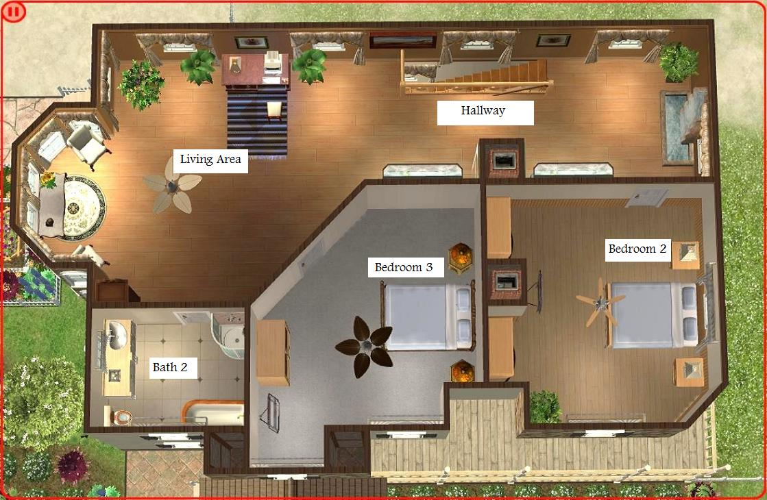 Mod the sims luxurious beach house for Floor plan maker free no download