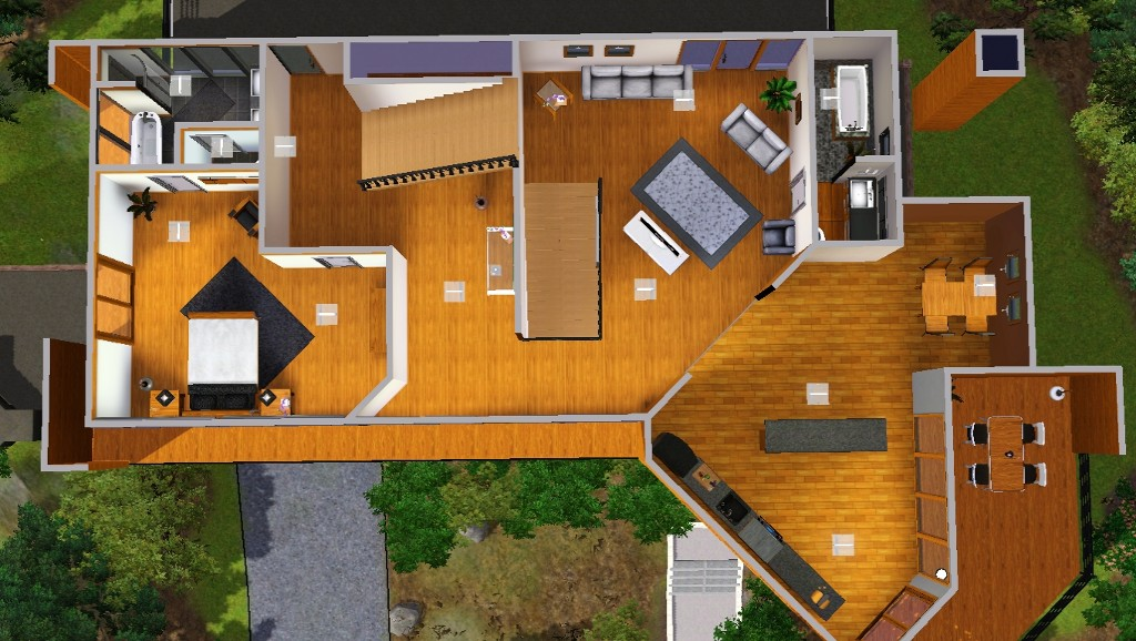 Mod the sims the cullens 39 house for Edward cullen house