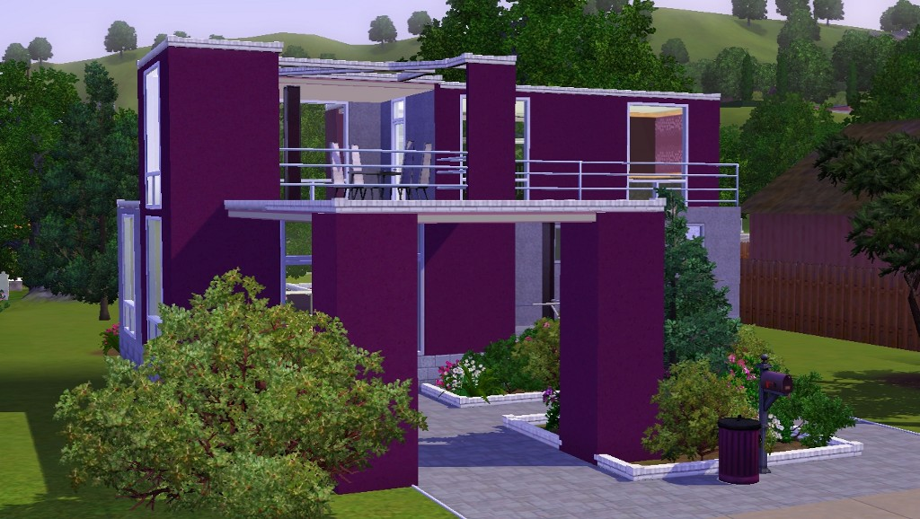 mod the sims vision in purple a modern house