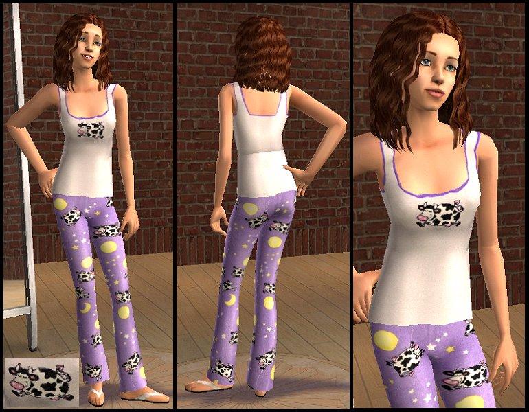 Mod The Sims - Colorful Teen Pajama Trio