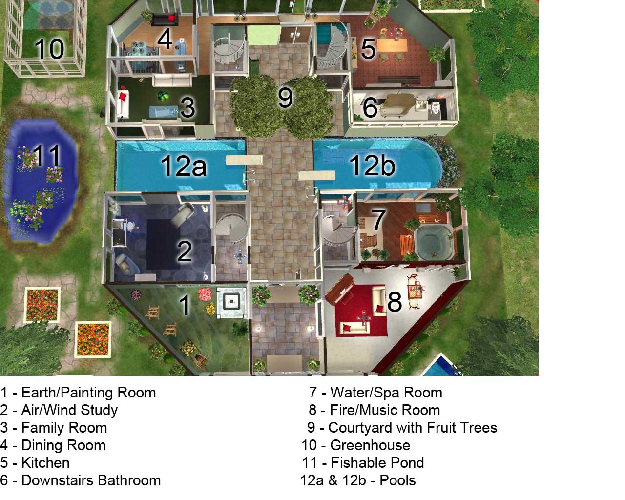 Sims mansion blueprints joy studio design gallery best Mansion floor plans
