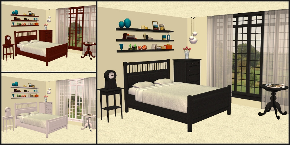 Mod The Sims - IKEA HEMNES Bedroom Furniture Recolours