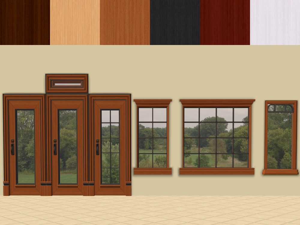 Mod The Sims Ofb Euro Door And Window Recolours