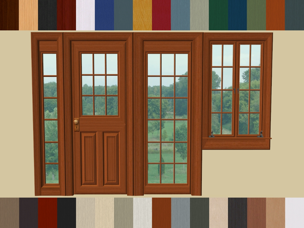 Custom Content used in my screenshots Paneled Doors and Windows Set  sc 1 st  Mod The Sims : paneled doors - pezcame.com