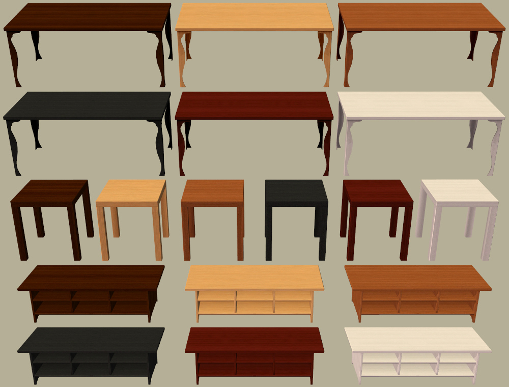 Mod the sims 10 ikea furniture items recoloured for Table leksvik