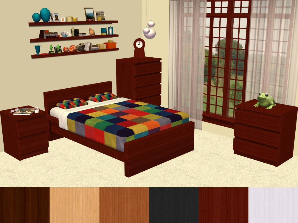 Mod the sims malm bedroom furniture recolours for K michelle bedroom furniture