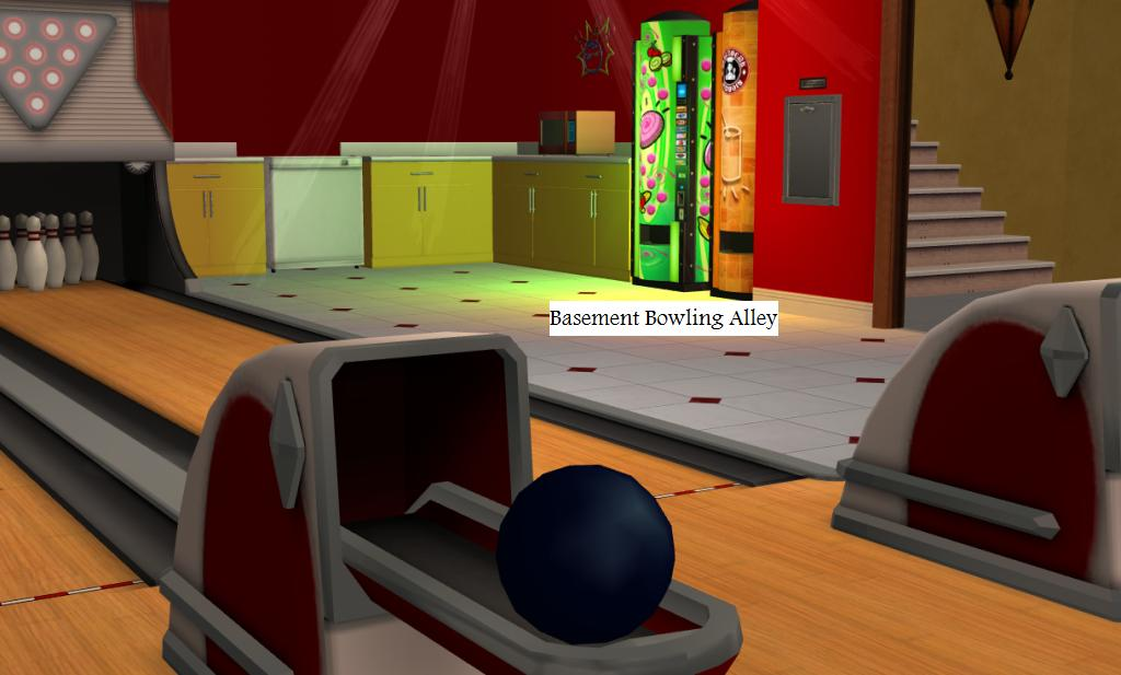 bowling alley basement long and narrow please help with
