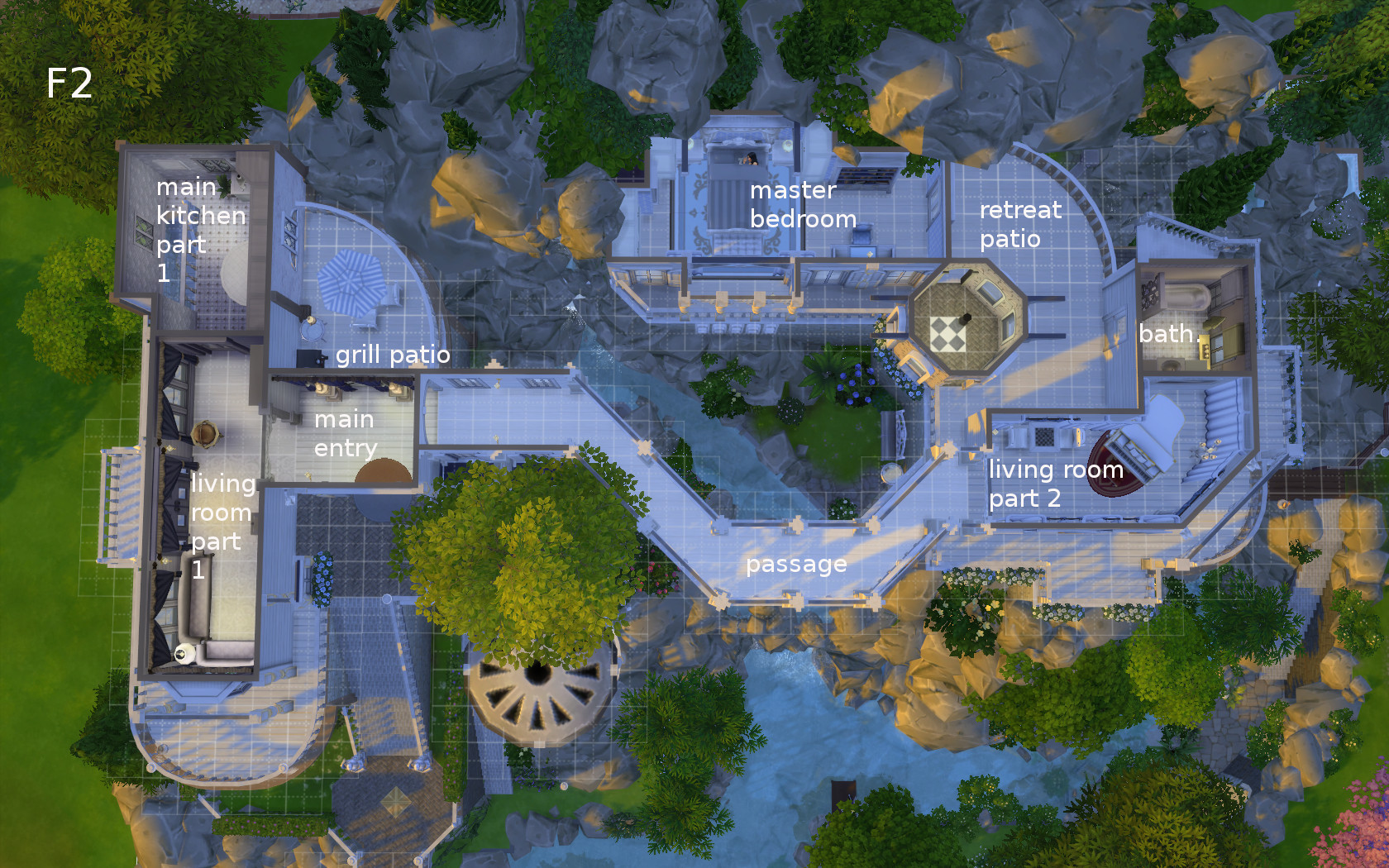 Mod The Sims Rivendell Elven Outpost No Cc