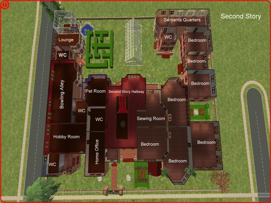 Mod The Sims Rose Red By Kerri A Mansion Of Luxury No