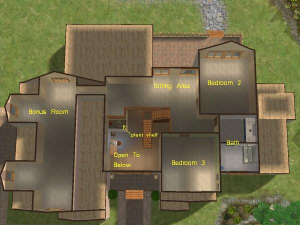 Mod The Sims Mountainview 3 Bedroom 2 story Home With