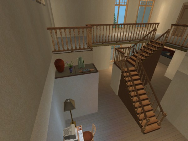 Mod the sims mountainview 3 bedroom 2 story home with for 2 story home interior