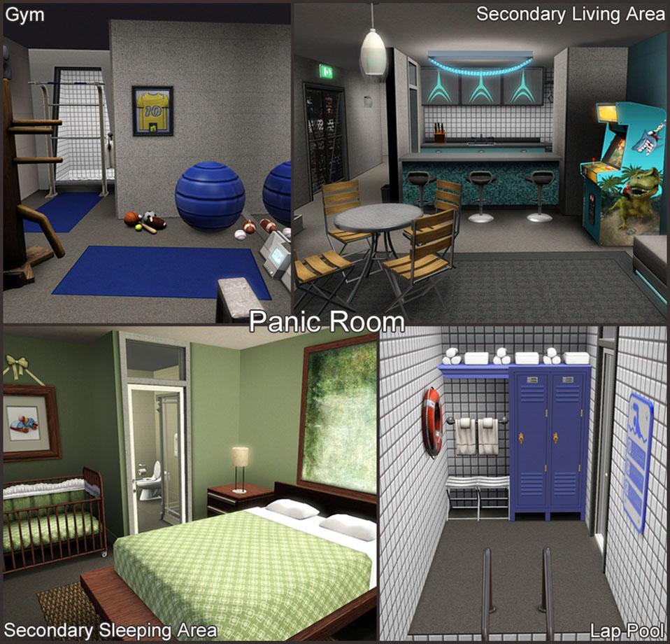 Mod the sims the pre apocalypse house for Custom panic room