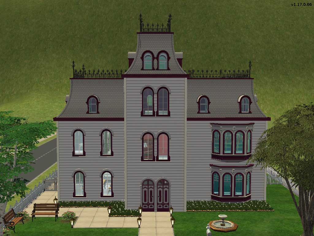 Mod the sims duskeyn house request small second empire for Mini mansion house plans
