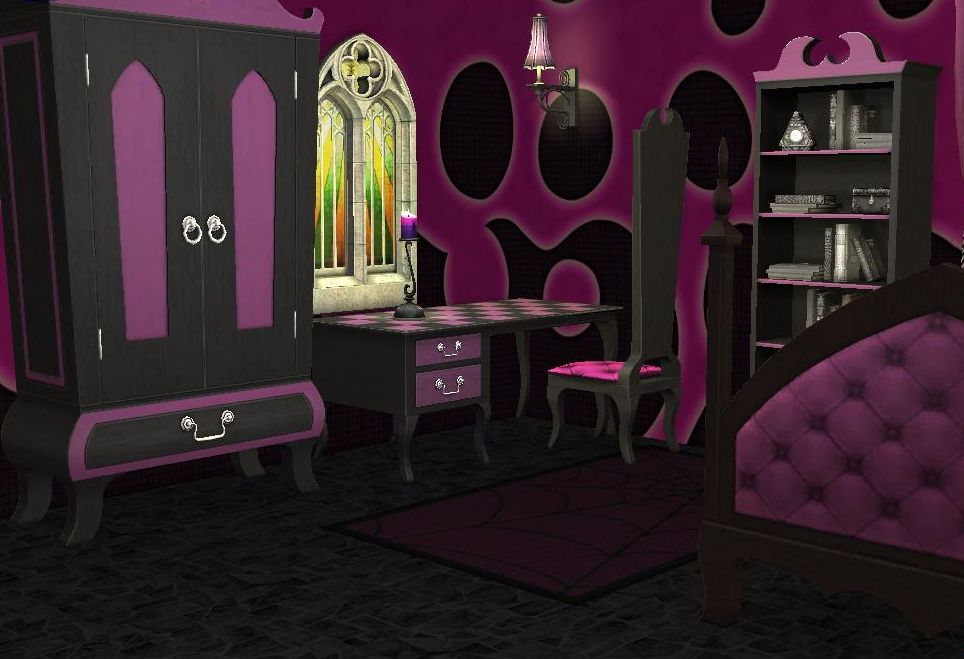Design A Gothic Teen Bedroom Gothic Teen Bedroom : Click image for larger versionName: Sims2EP8 2009-06-19 15-27-03-81 ...
