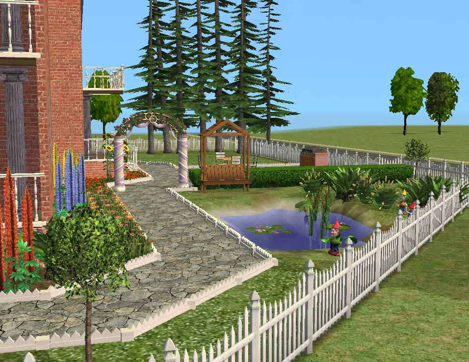 the sims 2 mansion garden 3 piece changebertyl