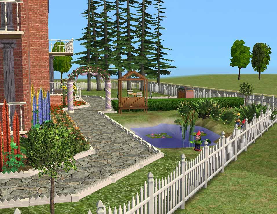 the sims 2 mansion garden 3 piece changebertyl On sims 2 garden ideas