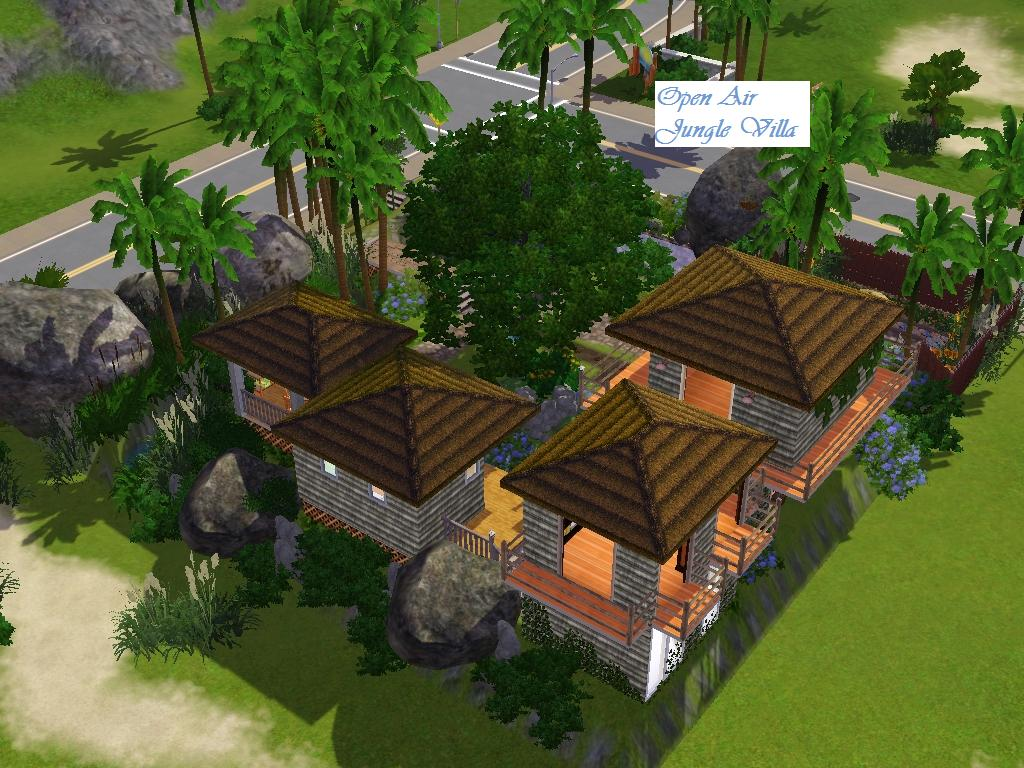 Mod The Sims - Open Air Jungle Villa - 433 Sunnyside Blvd.