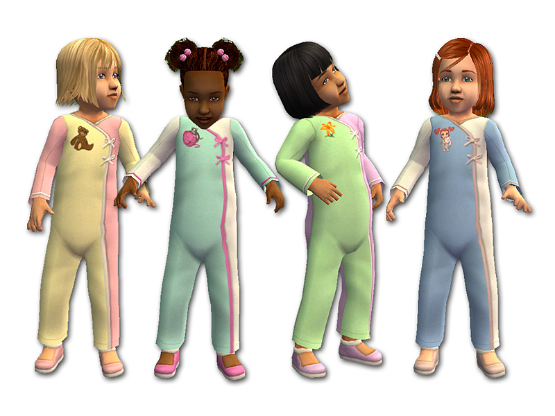 Mod The Sims - Long-Sleeved Rompers for Toddler Girls
