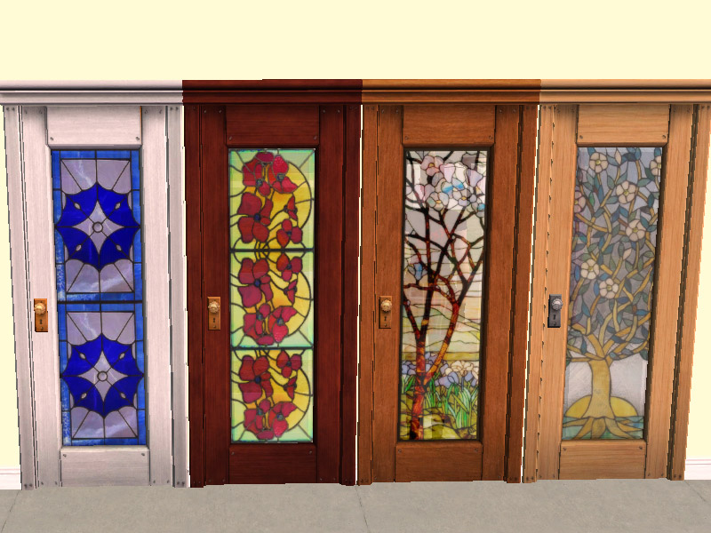 Mod The Sims Stained Glass For Base Game Doors