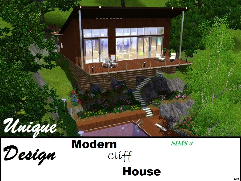 Mod the sims unique design i the overhang for Sims 4 balcony