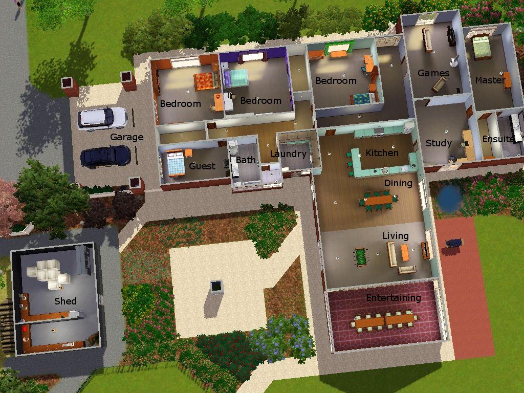 Чертежи Комнат Для Игры Sims 3