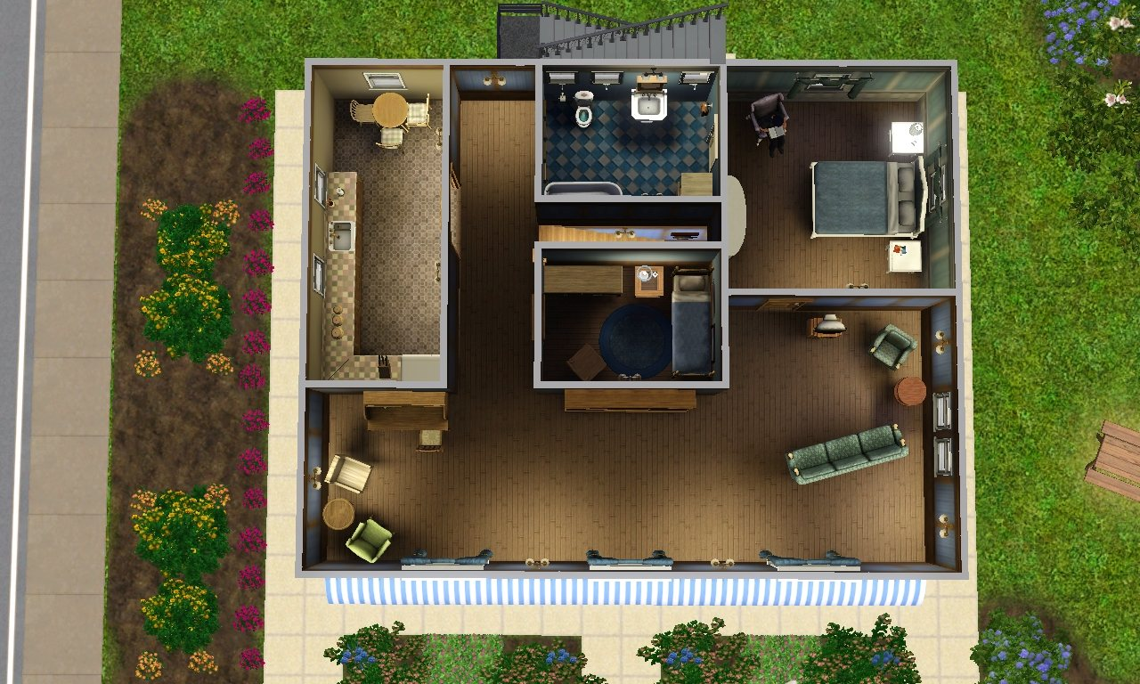 Mod the sims riverview antiques consignment store for Shop with apartment above