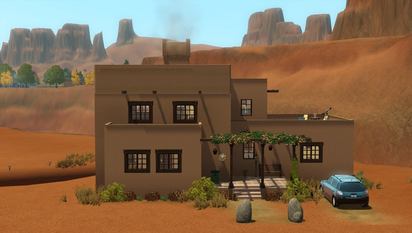 Mod the sims 1910 39 s adobe for How to build adobe homes