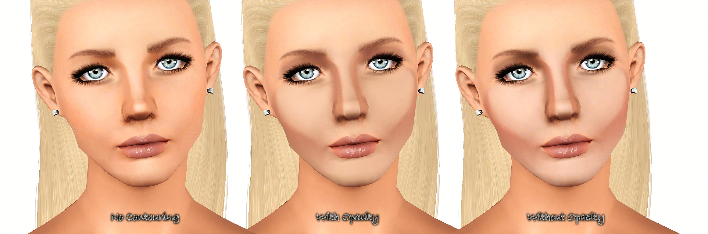 Mod The Sims - Full Face Contouring Blush