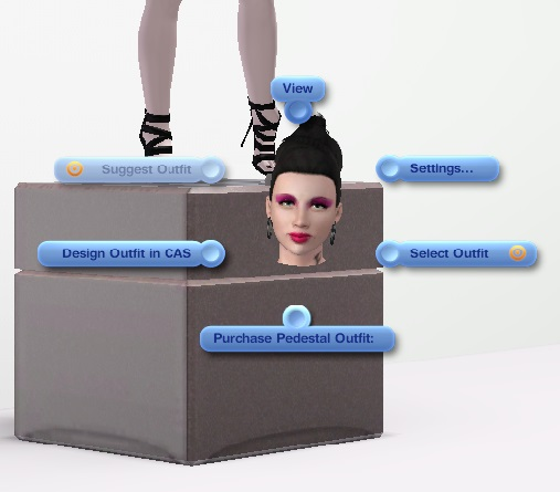 Mod The Sims - Shop for Clothing Display Pedestal Mod