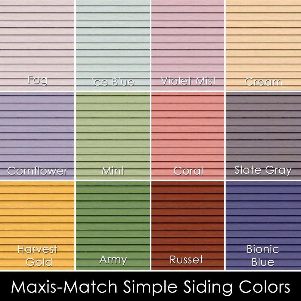 Mod The Sims Lots O Clapboard Siding