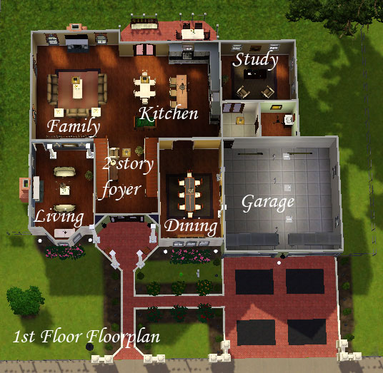 Foyer Room Means : Mod the sims dorchester luxury family home