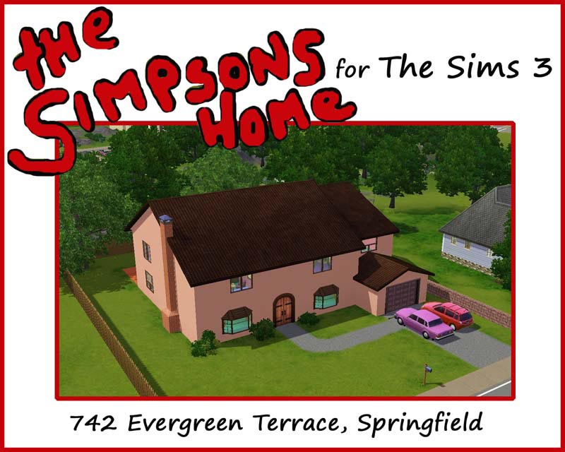 Mod the sims the simpsons house 742 evergreen terrace for 742 evergreen terrace springfield