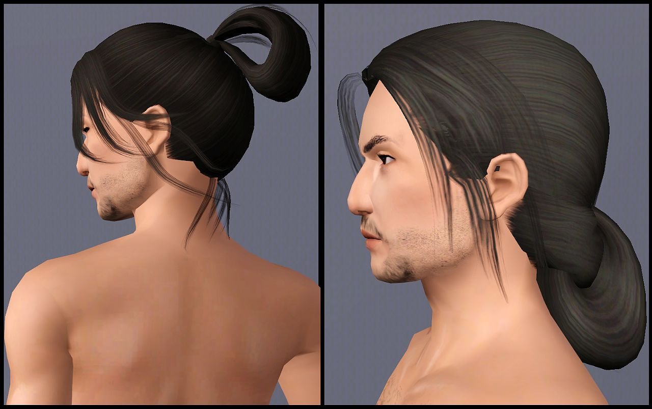 Mod The Sims Two Historical Asian Inspired Long Tied Hair Styles