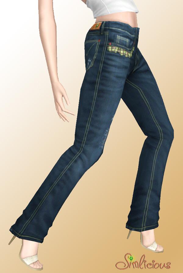 Женская повседневная одежда. MTS_Simlicious-1316010-Simlicious_StylishComfortDestroyedJeans_Teasersingle