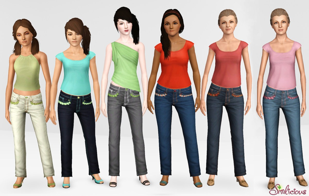 Женская повседневная одежда. MTS_Simlicious-1316020-Simlicious_StylishComfortJeans_front-group