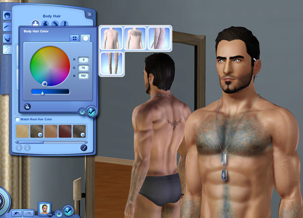 Mod The Sims Custom Body Hair Overlay
