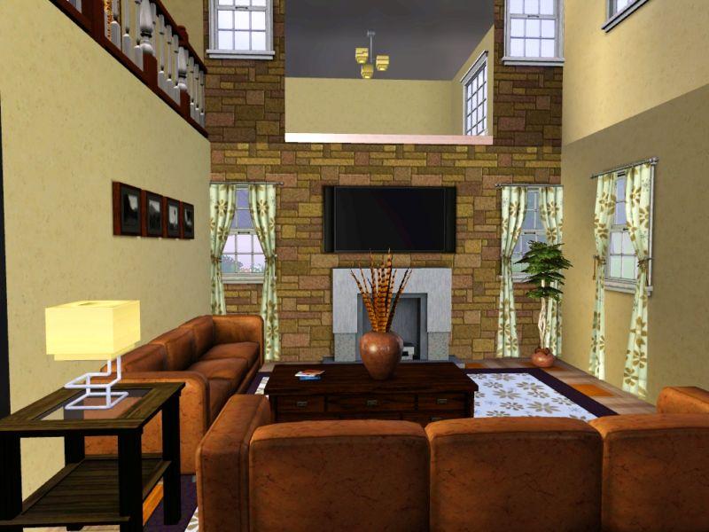 Mod the sims villa malibu for Sims 4 living room ideas