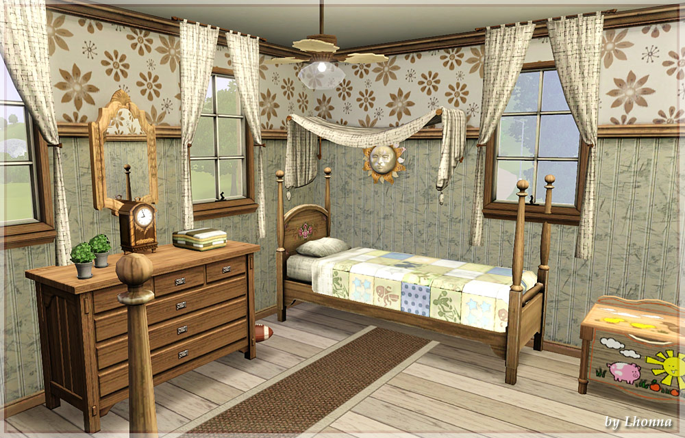 Mod the sims lavender cozy french villa for Sims 4 bedroom ideas