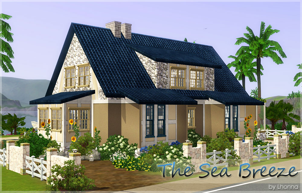 Mod The Sims The Sea Breeze Beach House For A Family