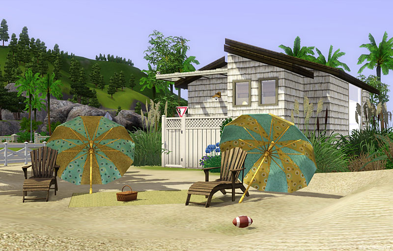 Mod the sims beach cabin small beach house for single for Beach house 3 free download